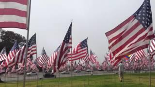 9/11 Anniversary 'Waves of Flags' at Pepperdine University