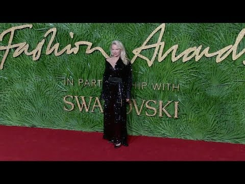 Pamela Anderson on the red carpet for the The Fashion Awards 2017 in London thumbnail