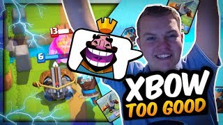 THIS IS BROKEN! 12 WIN X-Bow Ice Wizard Control Deck for Grand Challenges! - Clash Royale