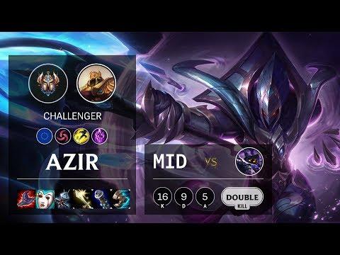 Azir Mid vs Veigar - EUW Challenger Patch 10.10