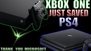The Xbox One Just Saved The PS4! Sony Fans Should All Thank Microsoft Right Now!