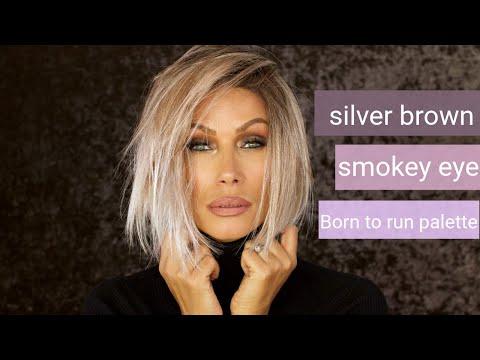 silver brown smokey eye | born to run palette