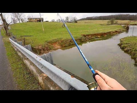 Fishing Off Country Creek Bridges (New Setup)