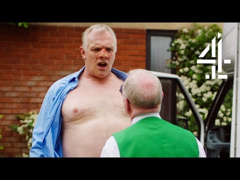 Greg Davies Gets His Shirt Ripped Off!! | Man Down (Bloopers)
