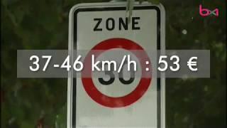 Des changements pour les amendes en cas d'excès de vitesse
