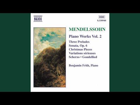 felix mendelssohn 3 preludes op 104a prelude in b minor