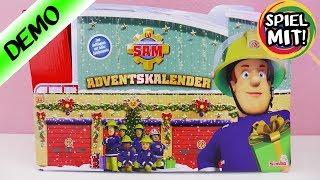 Adventskalender FEUERWEHRMANN SAM auspacken - 24 Türchen öffnen - Spiel mit mir Kinderspielzeug