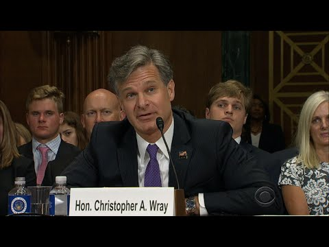 Christopher Wray, Trump's pick to lead FBI, grilled on Comey, law and loyalty