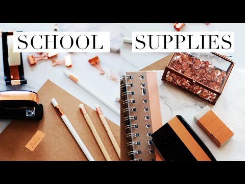 BACK TO LAW SCHOOL/UNIVERSITY DIY SCHOOL SUPPLIES + GIVEAWAY