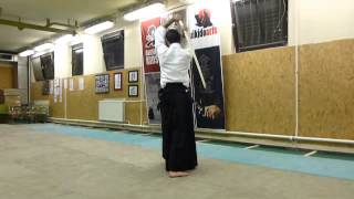 kirikaeshi happo 8 directions cut (8 irány)-boken- sword [TUTORIAL] Aikido basic weapon technique