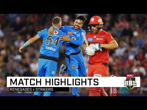 Strikers Grab Top Spot As Rashid Puts 'Gades In A Spin | KFC BBL|09
