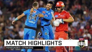 Strikers grab top spot as Rashid puts 'Gades in a spin | KFC BBL|09