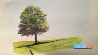 How to Paint with Goauche Tree Demonstration