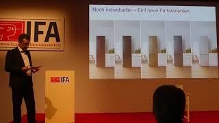 Bosch Kühlschränke neue Farben - IFA Innovations Media Briefing 2018