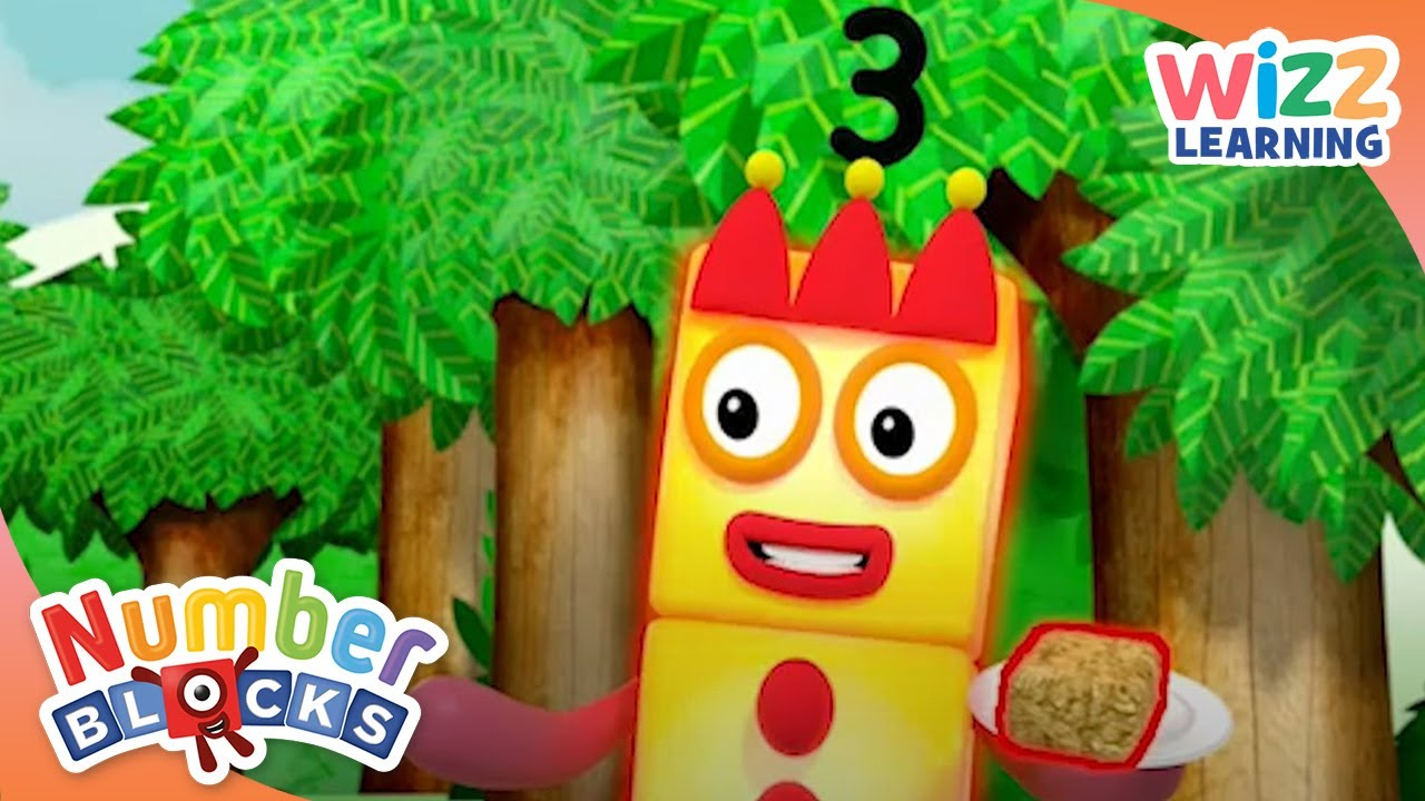 Numberblocks - Three Learns to Count | Learn to Count | Wizz Learning