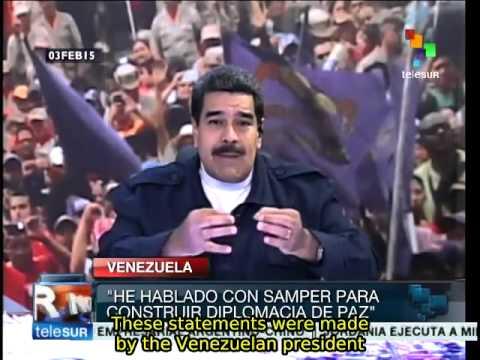 Maduro asks Samper to mediate between Venezuela and US