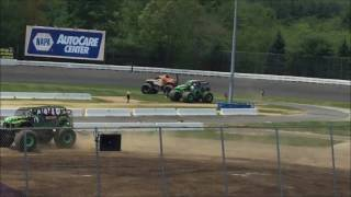 Monster Jam Stafford Springs, CT 2017 Sunday Afternoon: Moving of the Trucks After Pit Party