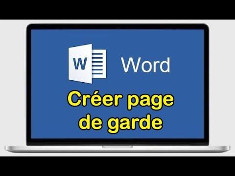 Comment Créer Une Page De Garde Gratuite Sur Word 2010