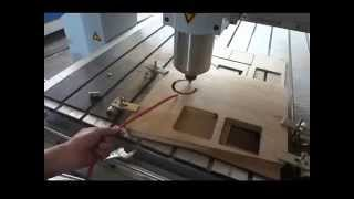 Wood Cnc Router Machine Cutting On 2.5cm Wood