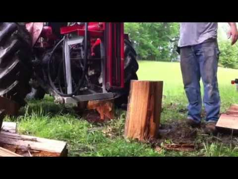 Wood Splitter Attachment For Tractor Post Driver Youtube