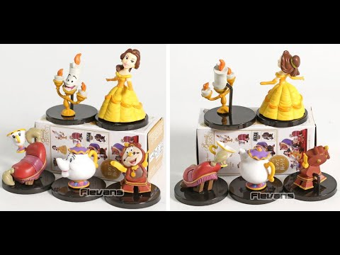 Classic Characters The Beast Belle Mini PVC Collectible Figures Toys 5 pcs/set from Aliexpress