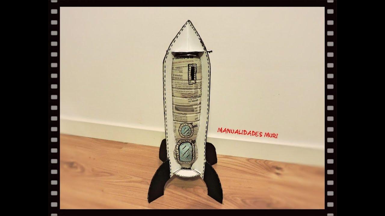 Manualidades como hacer una hucha cohete doovi - Como hacer una hucha ...