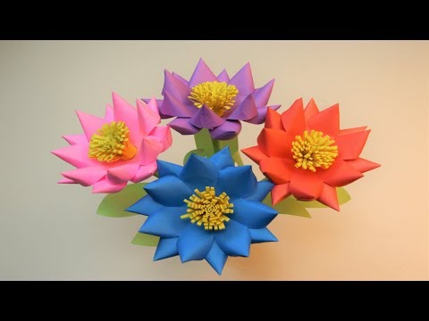 Easy paper flower craft ideas - Flower for Room/Home/wall decoration (DIY Paper Flower)