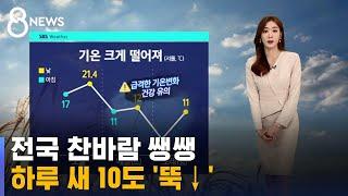 [날씨] 전국 대부분 비…주말엔 '서울 1도' 확 추워져요 / SBS