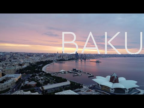 Baku - Azerbaijan - Beautiful Aerial Drone Footage