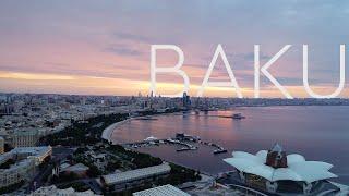 Baku - Azerbaijan - Beautiful aerial footage