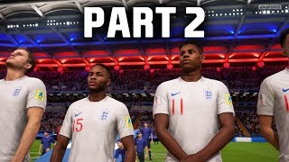 FIFA 18 World Cup Gameplay Walkthrough Part 2 - KNOCKOUT STAGES (ENGLAND)