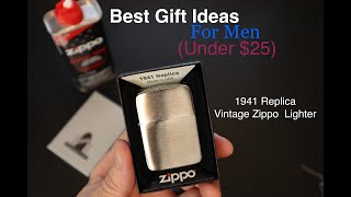 Zippo 1941 Replica Lighter-Best Gift Idea For Men (Under $25) Unboxing & Demo