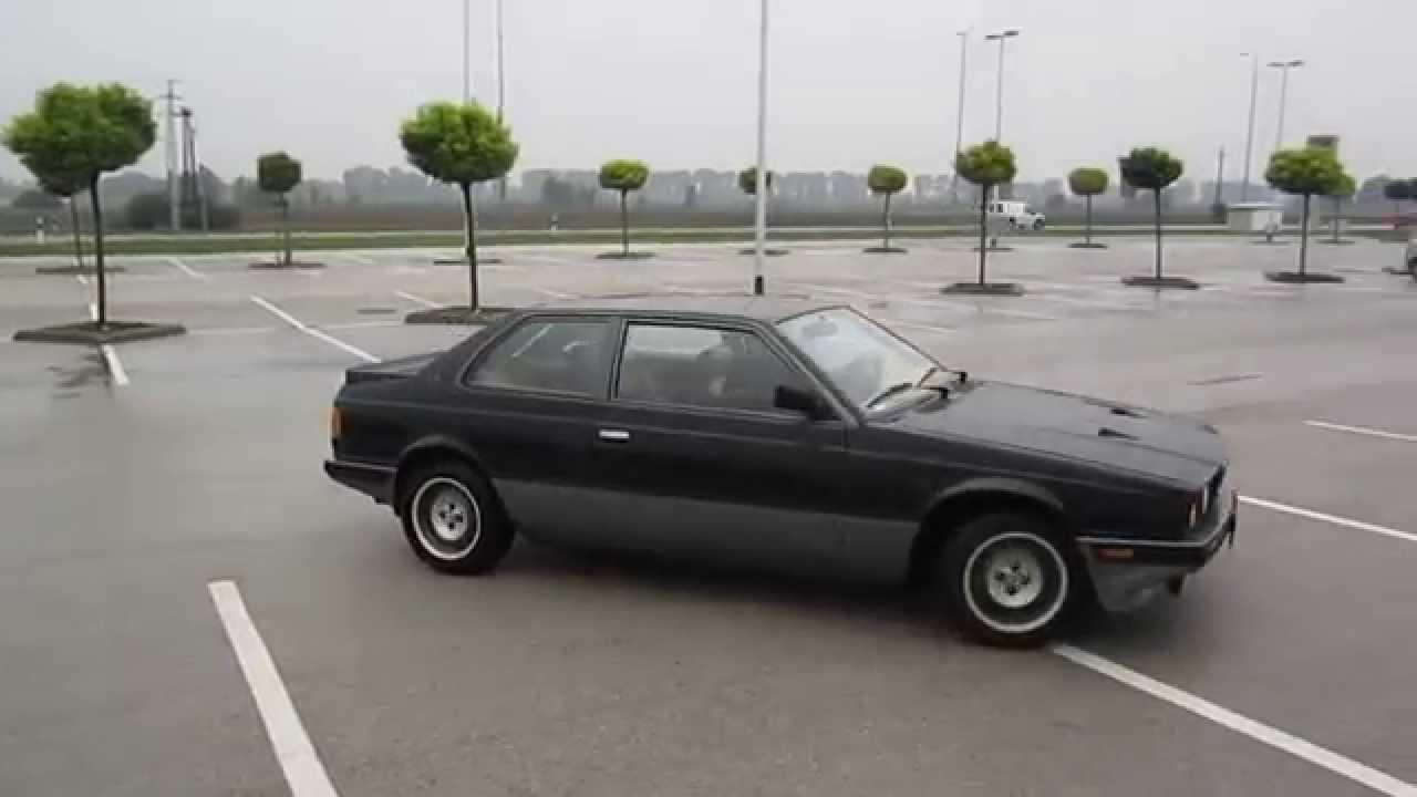 1987 Maserati Biturbo Si half circle - YouTube
