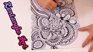 ¿que es Zentangle Art y como se hace? Speed drawing doodle art | Isa ❤️