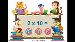Таблица умножения на 2. (Самый большой сборник видео) The  Multiplication Table By 2.