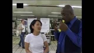 Cute Japanese Girl [SKY3] - Fare dodging on the London Underground.