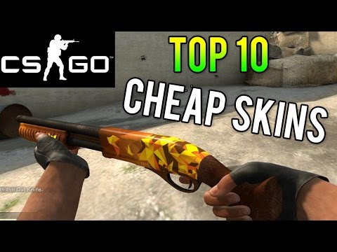 CS GO - Top 10 Cheap Skins! Best Skins for Under $2 - (Cheap Counterstrike Skins)