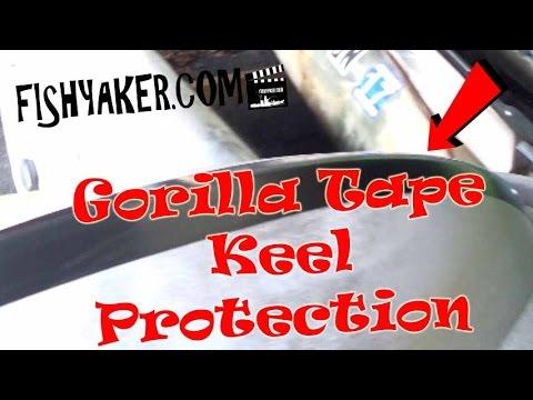 Kayak and Canoe Keel Protection with Gorilla Tape (Fishing Kayak Rigging): Episode 490