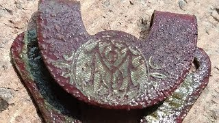 Metal Detecting Relics: Confederate Infantry Button & Monogram Dooflachee