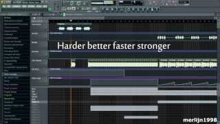 Daft Punk - Harder Better Faster Stronger (Alive 2007) [FL Studio remake]