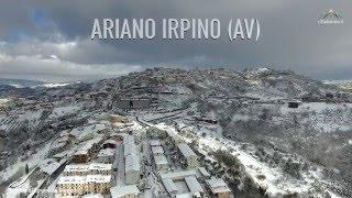 Ariano Irpino ricoperta di neve: le riprese dall'alto con il drone