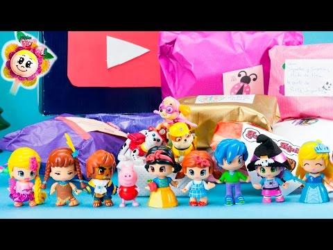 REGALOS SORPRESA de Canales Amigos! Peppa Pig abre regalos de Mikeltube, Juguetes de Arantxa y más!