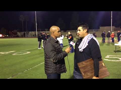 CIF SS D13 CHAMPIONS ORANGE PANTHERS; INTERVIEW WITH COACH ROBERT PEDROZA