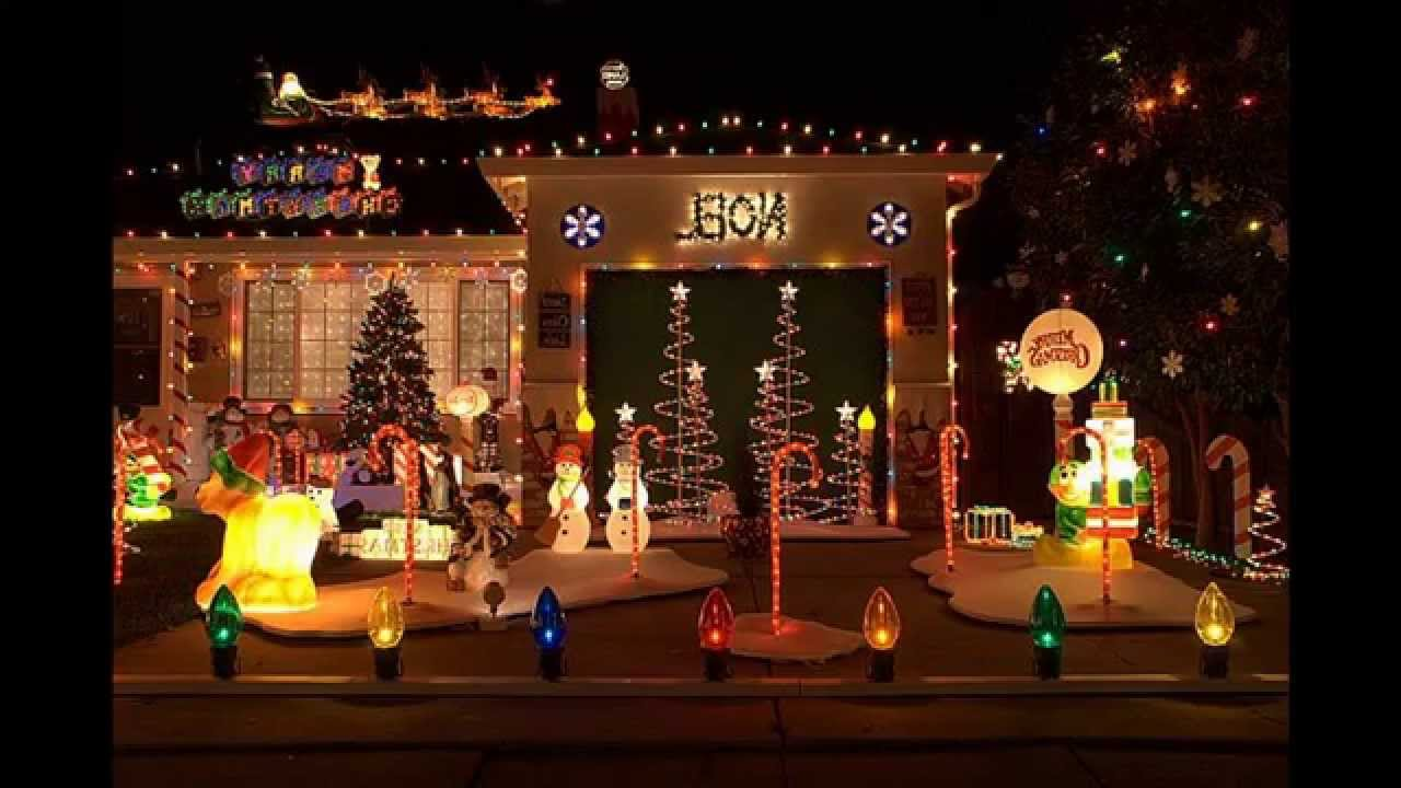 Exotic christmas decorations outdoor ideas youtube Christmas decorations for house outside ideas