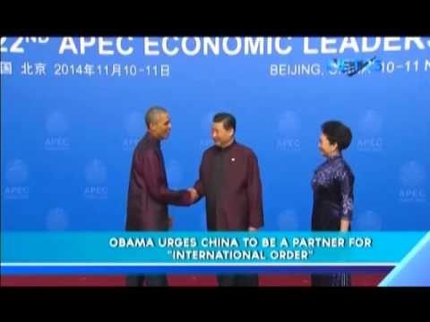 "Obama urges China to be a partner for ""International Order"""