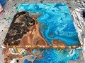 Acrylic Pour Painting: Double Flip Cup Summer Days