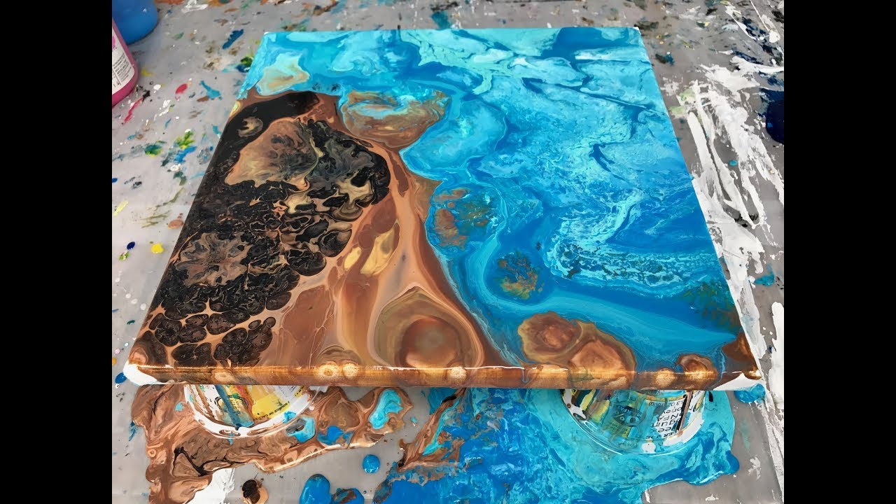 Acrylic Pour Painting Double Flip Cup Summer Days Youtube