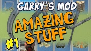 Garrys Mod - Amazing Stuff Part 1 - Rollercoaster and Planes