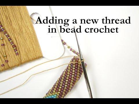 Ann Benson Adding a new thread in bead crochet