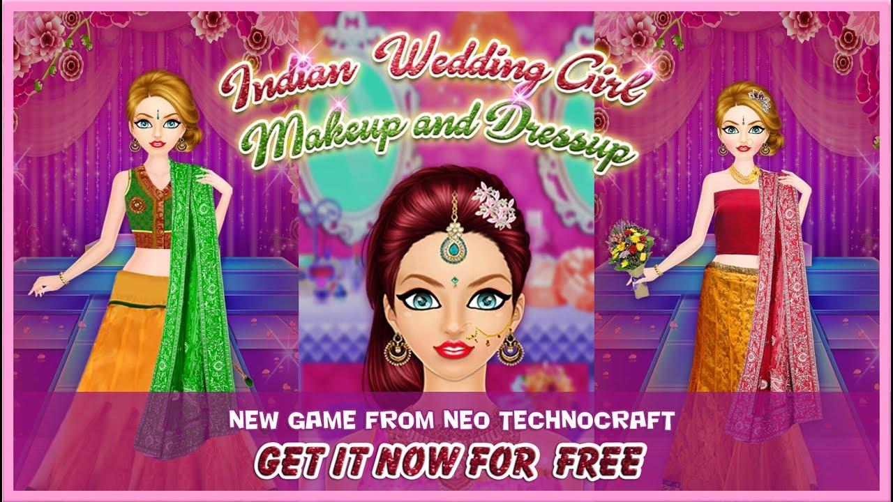 indian wedding girl makeup and dressup